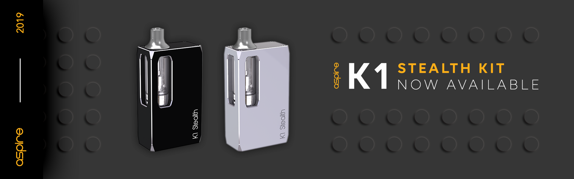 Aspire K1 Stealth Kit is now available to buy wholesale at Pacific Smoke