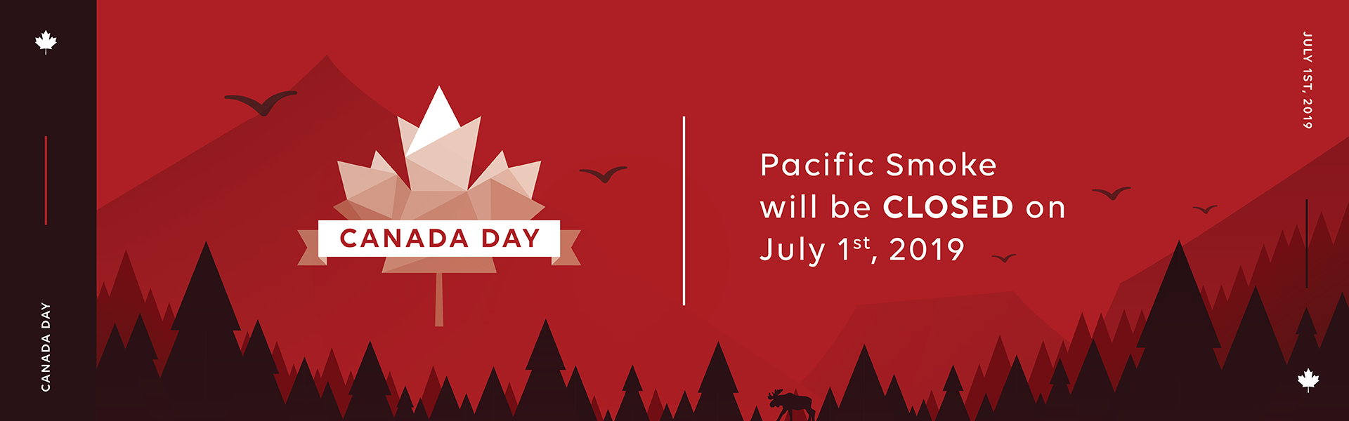 PSI closes on July 1st for Cananda Day