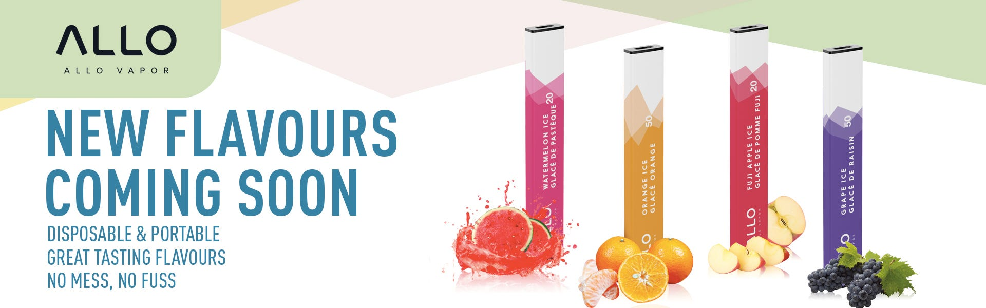 Four new flavours are coming real soon for Allo Disposables!