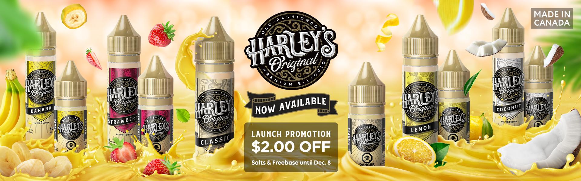 Harley's Original E-liquid Now Available