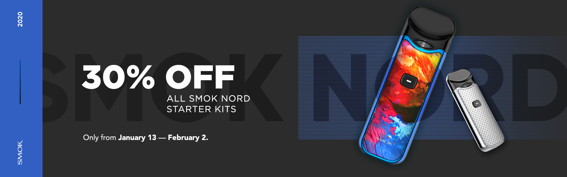 It's the True Nord Sale! All Smok Nord Open Pod Starter Kits are 30 Percent Off until February 2