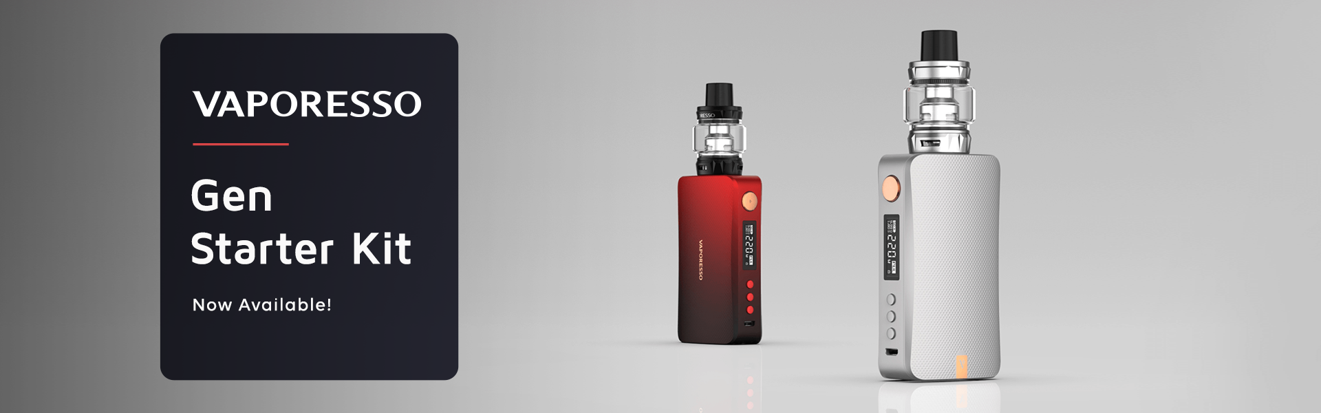 Vaporesso Gen 220W Starter Kit now available